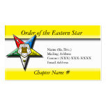 Order of the Eastern Star Pack Of Standard Business Cards