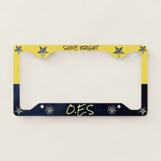 Order Of The Eastern Star Licence Plate Frame