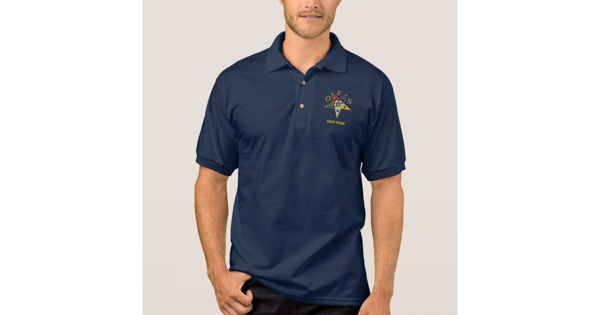 Order of the eastern star polo t shirts zazzle for Order custom polo shirts