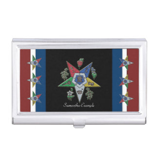 Order Of The Eastern Star USA Business Card Holder