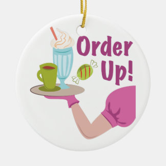 Order Up! Round Ceramic Decoration