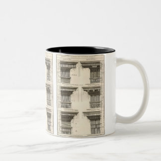 Orders of Architecture, Vintage Entablatures Two-Tone Mug
