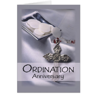 Ordination Anniversary Congratulations Card