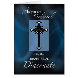 Ordination to Transitional Diaconate Cross, Blue Card