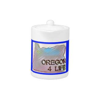 """Oregon 4 Life"" State Map Pride Design"