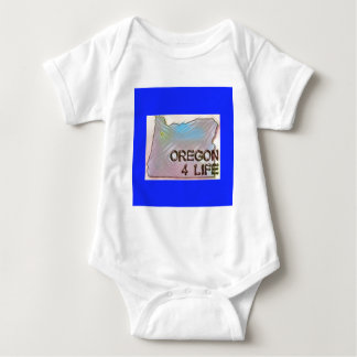 """Oregon 4 Life"" State Map Pride Design Baby Bodysuit"