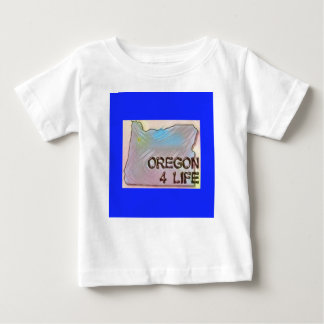 """Oregon 4 Life"" State Map Pride Design Baby T-Shirt"