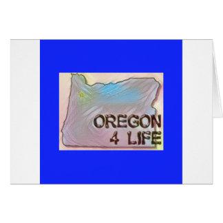 """Oregon 4 Life"" State Map Pride Design Card"