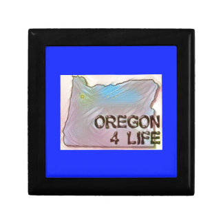 """Oregon 4 Life"" State Map Pride Design Gift Box"