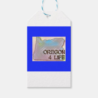 """""""Oregon 4 Life"""" State Map Pride Design Gift Tags"""