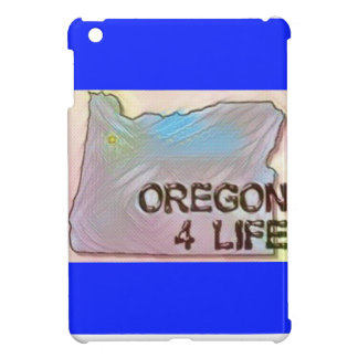 """Oregon 4 Life"" State Map Pride Design iPad Mini Covers"