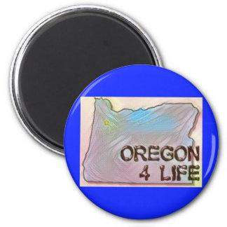 """""""Oregon 4 Life"""" State Map Pride Design Magnet"""