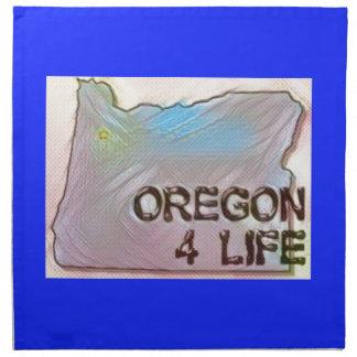 """Oregon 4 Life"" State Map Pride Design Napkin"