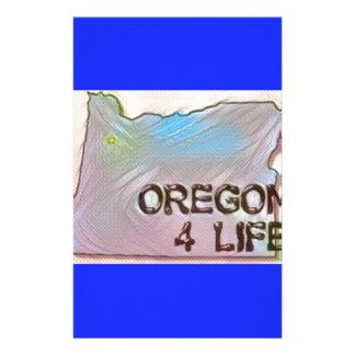 """Oregon 4 Life"" State Map Pride Design Stationery"