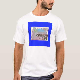 """Oregon 4 Life"" State Map Pride Design T-Shirt"