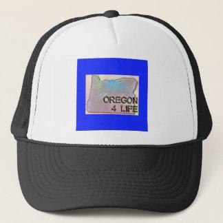 """Oregon 4 Life"" State Map Pride Design Trucker Hat"