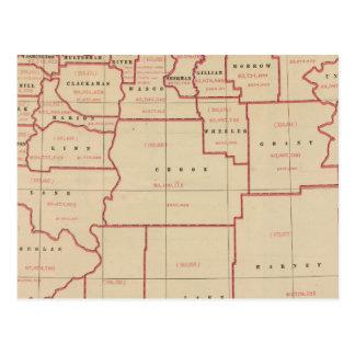 Oregon agric, farm values, products, acreages postcard