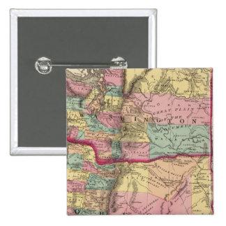 Oregon and Washington Territory 15 Cm Square Badge