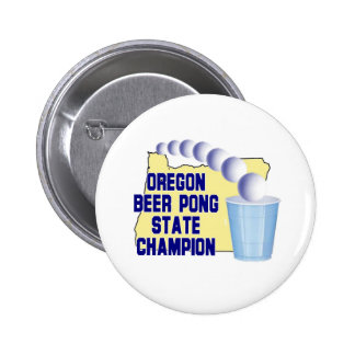 Oregon Beer Pong Champion 6 Cm Round Badge