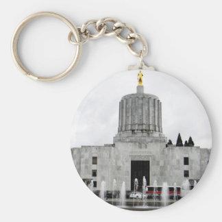 Oregon Capitol Basic Round Button Key Ring