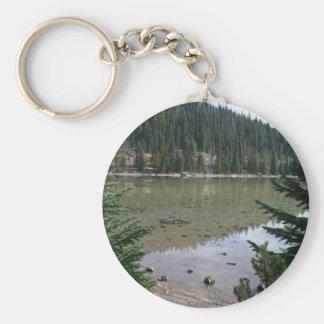 Oregon Cascades, Devils Lake Basic Round Button Key Ring