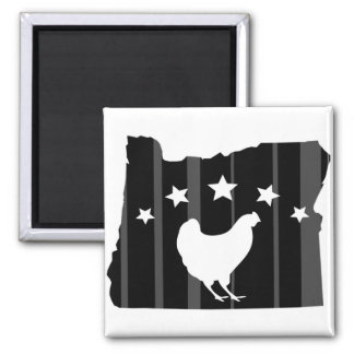 Oregon Chicken Stars and Stripes Magnet