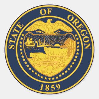 Oregon Classic Round Sticker