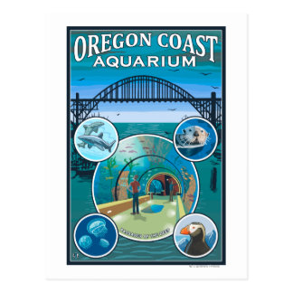 Oregon Coast Aquarium Postcard