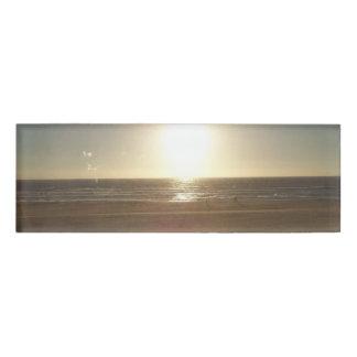 Oregon Coast beach at sunset Name Tag