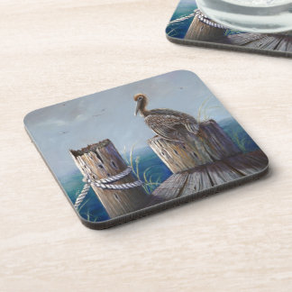 Oregon Coast Brown Pelican Acrylic Ocean Art Coaster