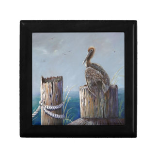 Oregon Coast Brown Pelican Acrylic Ocean Art Gift Box