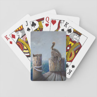 Oregon Coast Brown Pelican Acrylic Ocean Art Playing Cards