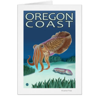 Oregon Coast Cuttlefish Card