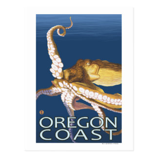 Oregon Coast Octopus Postcard