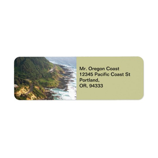 Oregon Coast Return Address Label