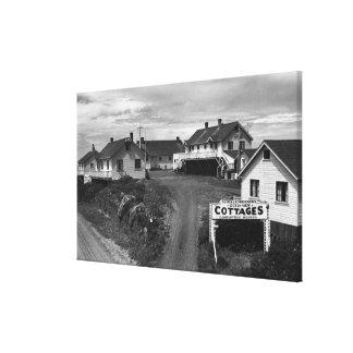 Oregon Coast Schellenbergers Ocean View Cottages Canvas Print