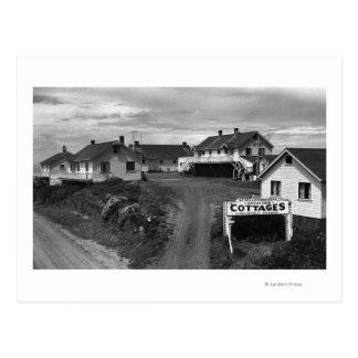 Oregon Coast Schellenbergers Ocean View Cottages Postcard