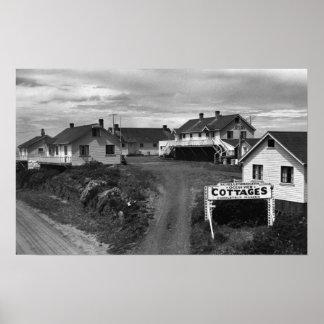 Oregon Coast Schellenbergers Ocean View Cottages Poster