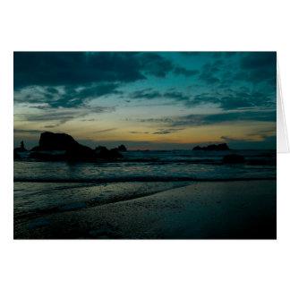 Oregon Coast Sunset 02 Card