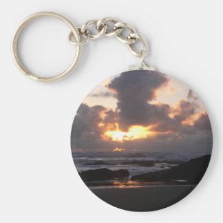 Oregon Coast Sunset Key Ring