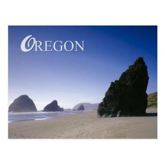 Oregon coast with rock formations postcard