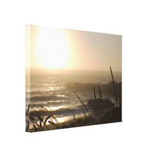 Oregon Coastal Sunset Gallery Wrapped Canvas