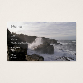 Oregon Coastline Business Card