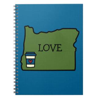Oregon & Coffee Spiral Note Books