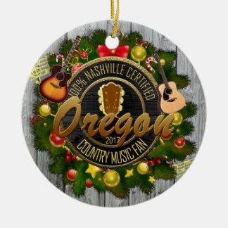 Oregon Country Music Fan Christmas Ornament