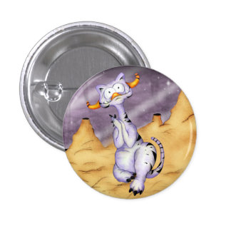OREGON CUTE ALIEN MONSTER CARTOON  Button small