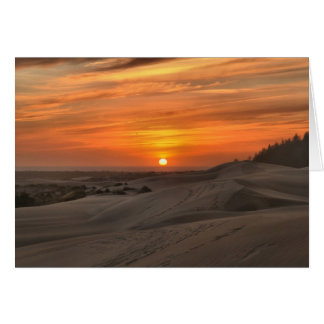 Oregon Dunes Sunset Card