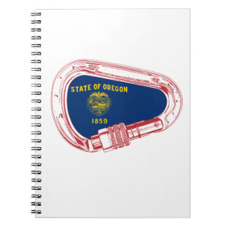 Oregon Flag Climbing Carabiner Notebook