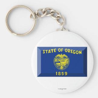 Oregon Flag Gem Key Chains