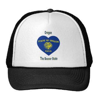 Oregon Flag Heart Hat